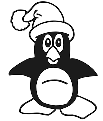 penguin coloring penguin santa hat