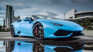 car lamborghini blue 2016 lamborghini huracán lp 610 4 spyder light blue in miami