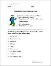 grammar subject and predicate elem worksheets i abcteach com