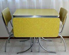 Yellow Retro Kitchen Chairs - vintage kitchen formica table 4 chairs chrome orange red white