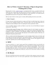 How To Type Up Resume How To Write A Good Resume Resume Templates