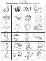 rhymes worksheets packet for prek 1 by fran lafferty tpt