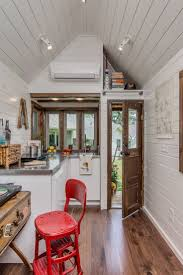 decor minimalist tennessee tiny homes with red barstool