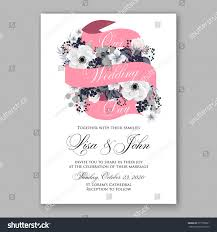 Wedding Invitation Card Samples Anemone Wedding Invitation Card Template Floral Stock Vector