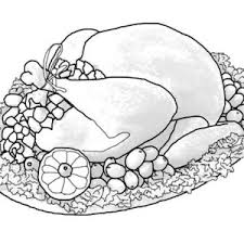 realistic canada thanksgiving day turkey lineart coloring page