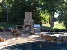 backyard designs with pool and outdoor kitchen chic and trendy