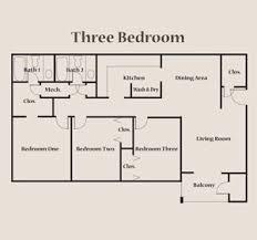 three bedroom floor plans floor plan of three bedroom errolchua