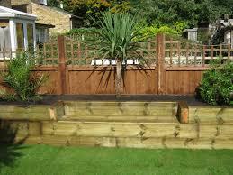 Landscape Garden Ideas Small Gardens by Railway Sleepers Small Gardes Pinterest Raised Bed Railway