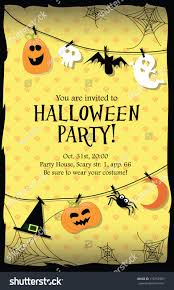 halloween background party scenes halloween party invitation card stock vector 116152987 shutterstock