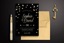 and black wedding invitations black gold wedding invitation invitation templates creative