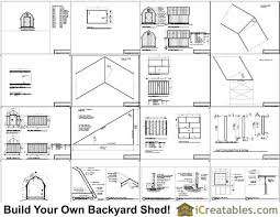 8x12 gambrel shed plans icreatables com