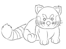 webkinz red panda coloring free printable coloring pages