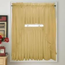 Zebra Valance Curtains Elegance Voile Gold Sheer Curtain Bedbathhome Com