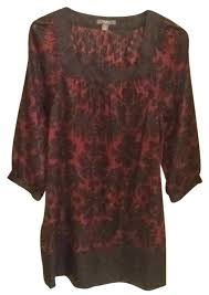 apt 9 clothing apt 9 black burgundy blouse size 6 s tradesy