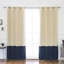 Blue And Beige Curtains Blue And Beige Curtains Wayfair