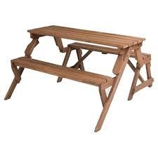 Folding Picnic Table To Bench Leisure Season Folding Picnic Table And Bench Reviews Wayfair
