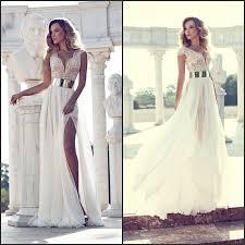 flowing wedding dresses com buy unique a line v neck cap sleeve beading patterns