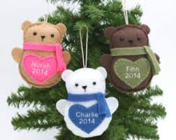 teddy ornament etsy