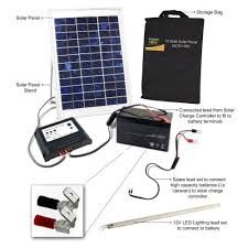 How To Charge Solar Lights - amazon com solar 2 go isb rl01 10 watt portable solar power kit