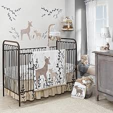 Baby Deer Crib Bedding Lambs Meadow Deer Crib Bedding Collection In White