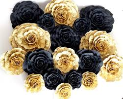 gold flowers 12 large paper flowers graduation nursery bridal baby