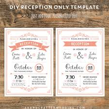 wedding reception program sle coral diy reception only invitation ahandcraftedwedding wedding