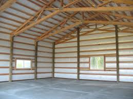 Building Plans For Metal Garage by Interior Of A Post Frame Garage Shop In Stanwood Wa Built By