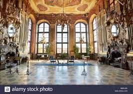 ksiaz castle interior baroque hall sudeten mountains silesia