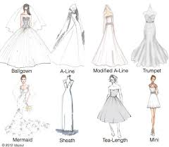 design a wedding dress wedding gowns 101 learn the silhouettes bridalguide