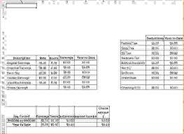 5 pay stub template excel procedure template sample