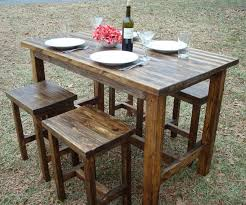 rectangle pub table sets hickory rectangle pub table throughout rustic tables decorations 19