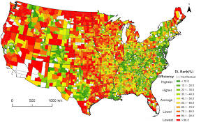 united states population map study maps development one county at a time