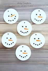 wood slice snowmen ornaments artzycreations