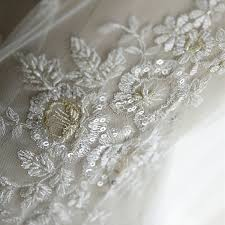 ivory hand made embroidery lace with beads and sequins lunss couture