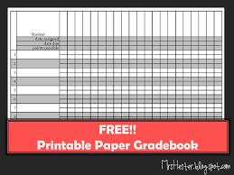 Grade Book Template Excel Mrs Hester S Classroom Paper Gradebook