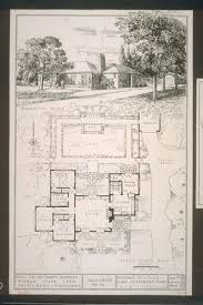 calisphere first floor plan perspective sketch house for mrs