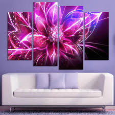 compare prices on abstract art painting purple online shopping 4 piece cheap abstract canvas art modern wall painting purple glowing flower home decorative art picture
