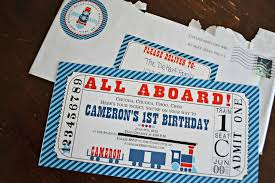 Nautical Theme Birthday Invitations - trains birthday party ideas photo 5 of 37 catch my party