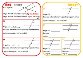 angles in parallel lines scaffolded differentiated rage sheet by