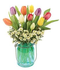 jar vase tulip sky bouquet at from you flowers