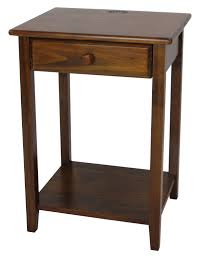 End Table With Charging Station by Yu Shan Night Owl Night Stand With Usb Port In Warm Brown Beyond