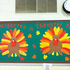 kindergarten is thankful for bulletin board idea