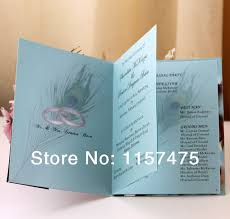 print at home wedding programs hi9002 customized wedding programs order of service with ribbon in