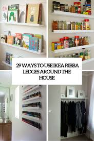 29 ideas to use ikea ribba ledges around the house digsdigs