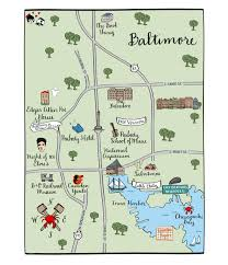 Baltimore City Map Maps And Totes U2013 Laura Hooper Calligraphy