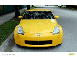 nissan 350z yellow color ultra yellow metallic 2005 nissan 350z touring coupe exterior