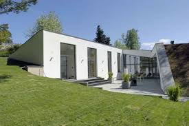 concrete homes designs architecture fabulous green garden sloping roof design with