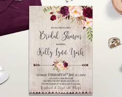 rustic bridal shower invitations rustic bridal shower etsy