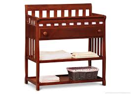 Cherry Wood Baby Changing Table Delta Children Cherry Changing Table With Pad Baby Baby