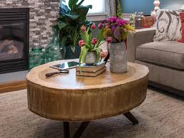 Diy Wooden Coffee Table Designs by How To Build A Stump Coffee Table How Tos Diy